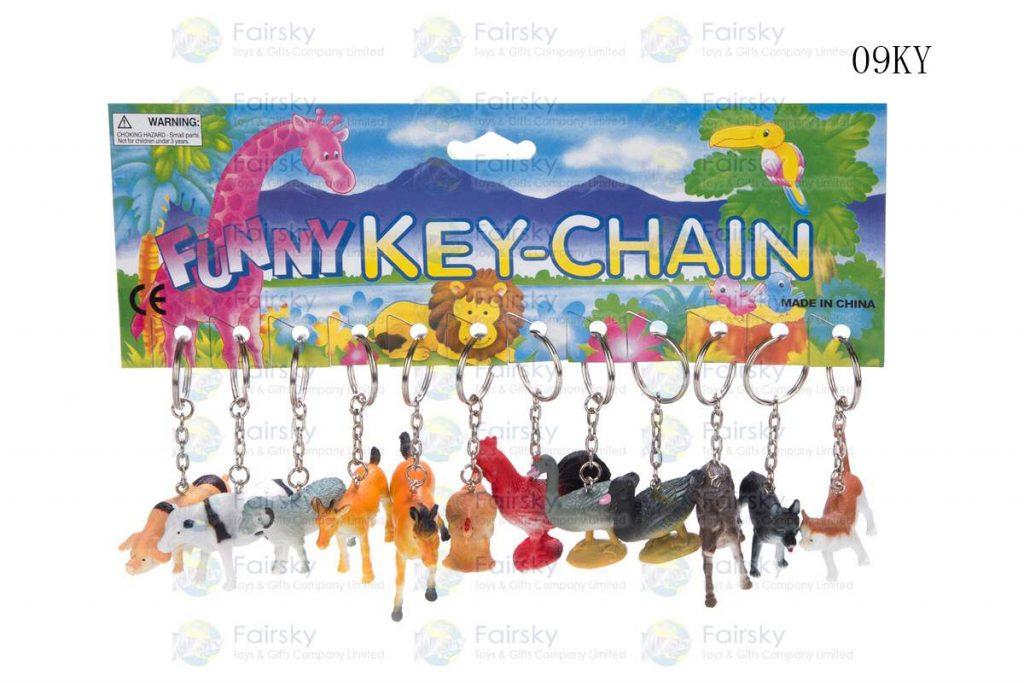"""2"""" PVC FARM ANIMALS W/KEYCHAIN, 12 STYLES"""