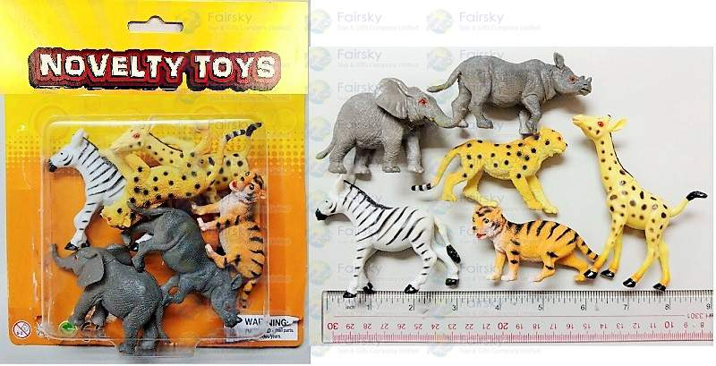 "2.5""-3.5"" PVC WILD ANIMALS 12 STYLES"