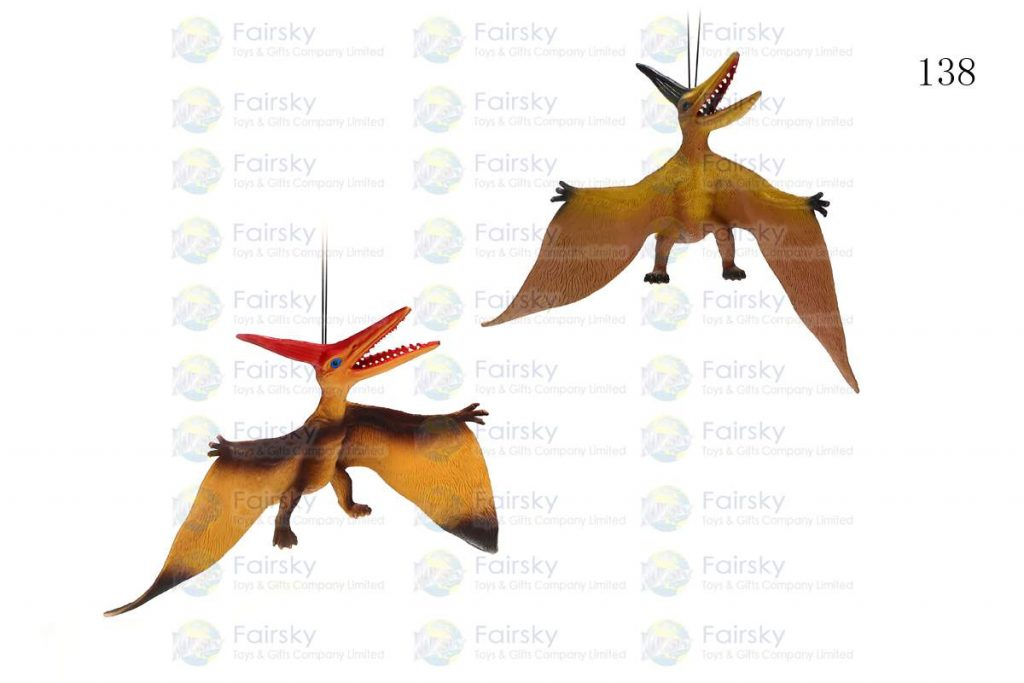"16"" PVC PTERANODON WITH STRING, 1 STYLE, 2 COLORS"