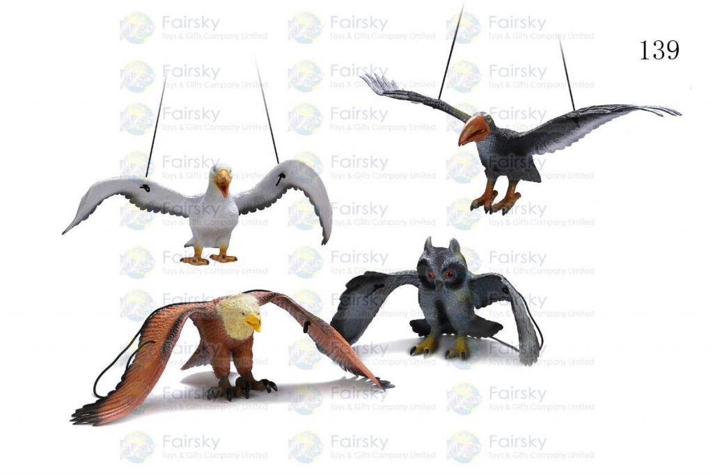 """19.5""""-22"""" PVC BIRD CREATURE W/STRING, 4 STYLES"""
