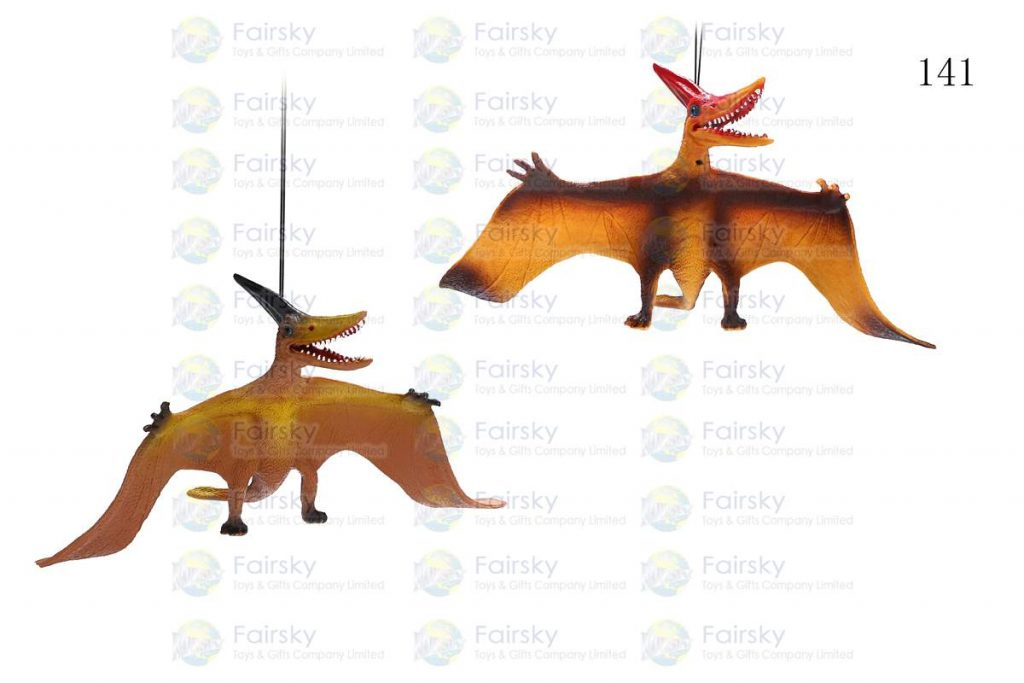 "12"" PVC PTERANODON WITH STRING, 1 STYLE, 2 COLORS"