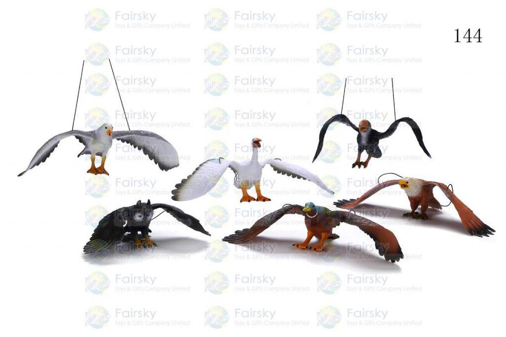 "11""-15"" PVC SQUEAKING BIRD CREATURE W/STRING, 6 STYLES"