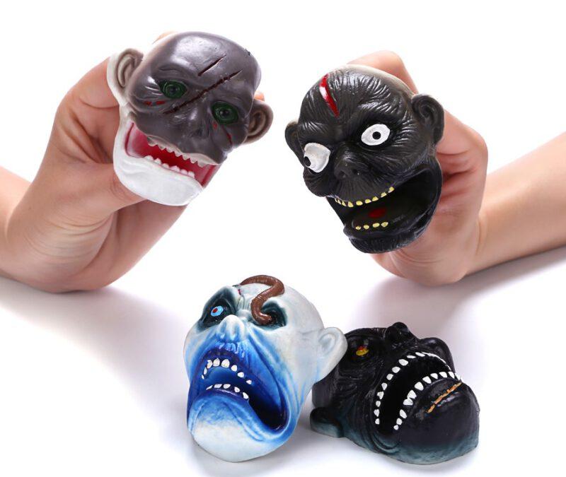 """3.25"""" PVC Monster Head Finger Puppet"""