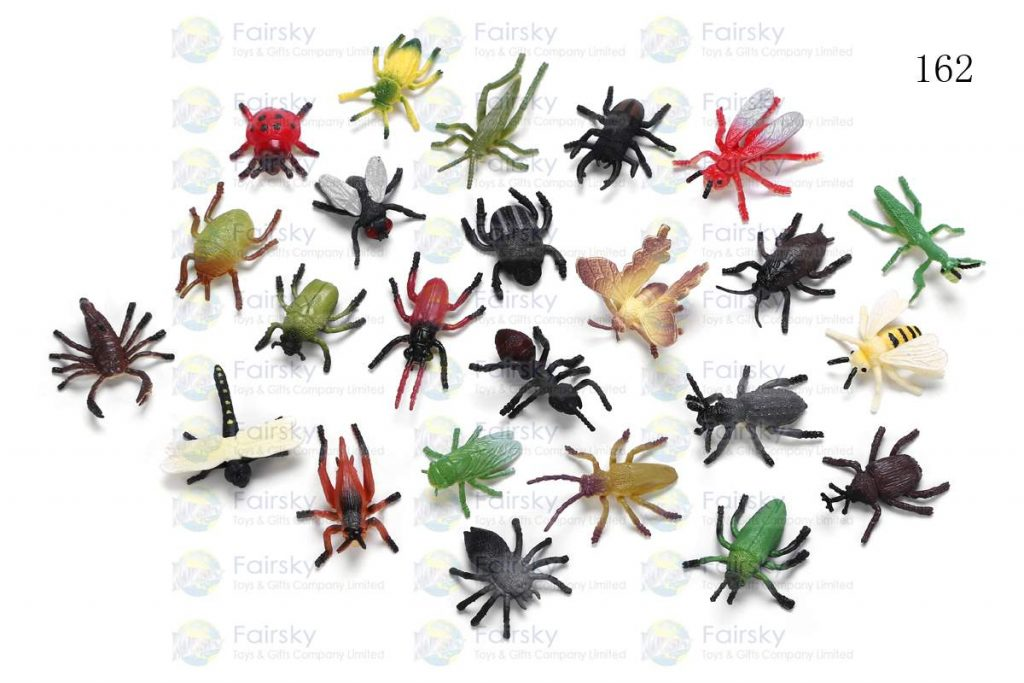 """1.5""""-2.5"""" PVC AUTHENTIC INSECTS 24 STYLES"""