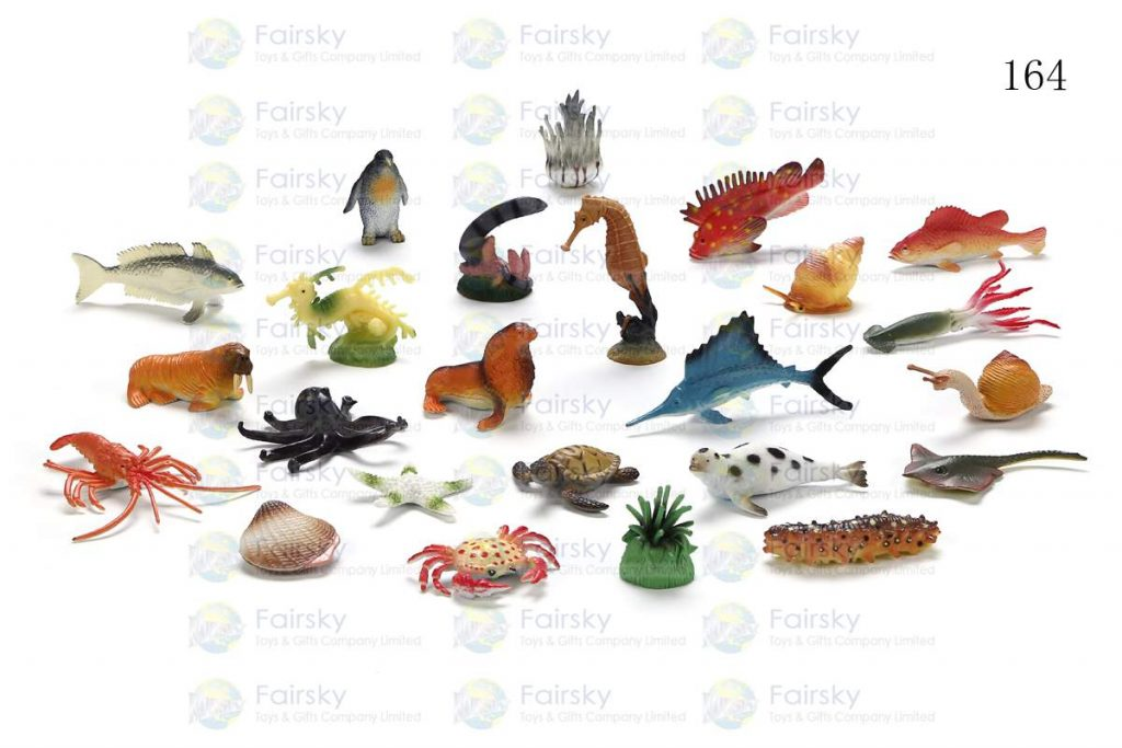 "1.5""-3.25"" PVC OCEAN ANIMALS 24 STYLES"