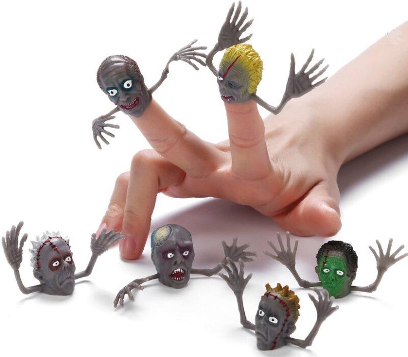 "1.5"" PVC Monster Head Finger Puppet 6 Asst"