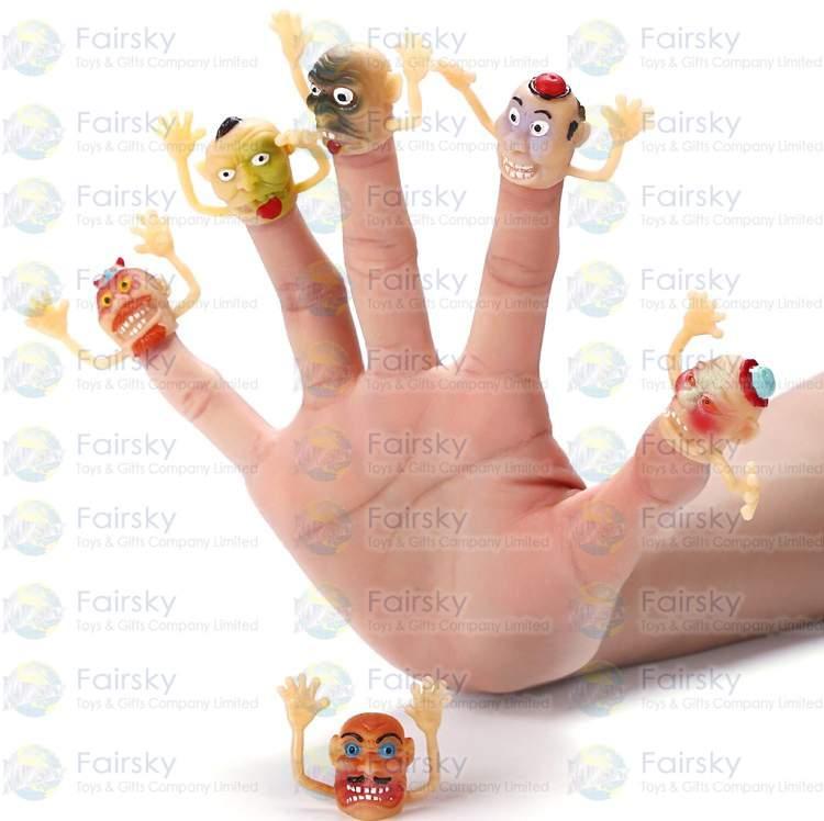 """1.25"""" PVC Clown Head Finger Puppet"""
