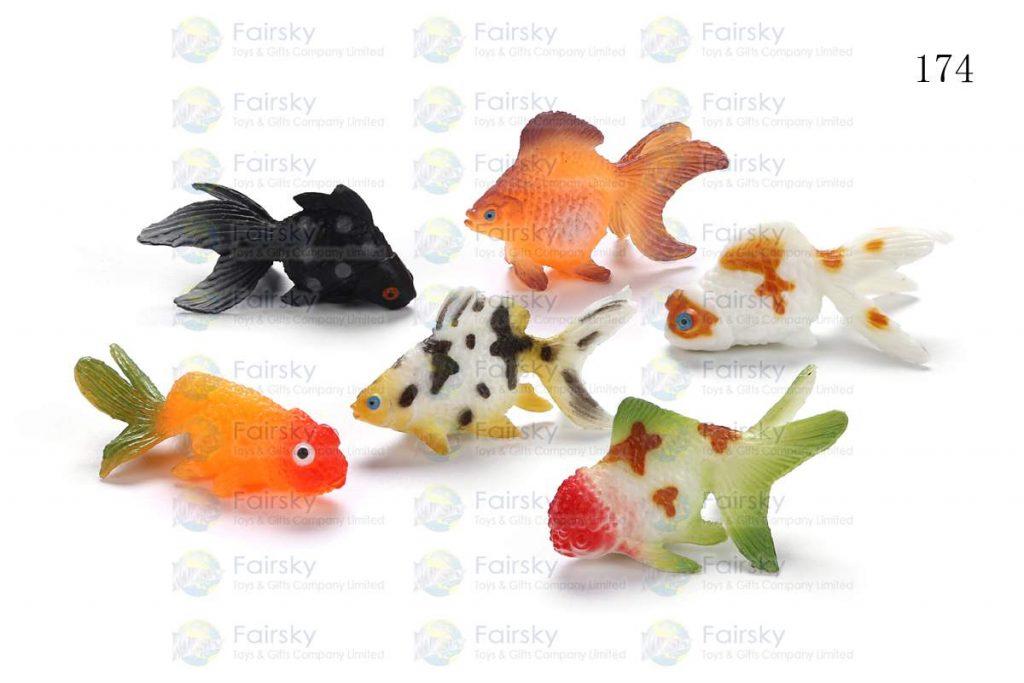 "1.5"" PVC GOLD FISH 6 STYLES"