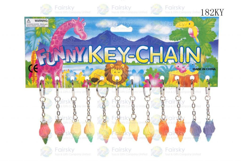 """1.25"""" PVC CANAL W/KEYCHAIN, 1 STYLE, 6 COLORS"""