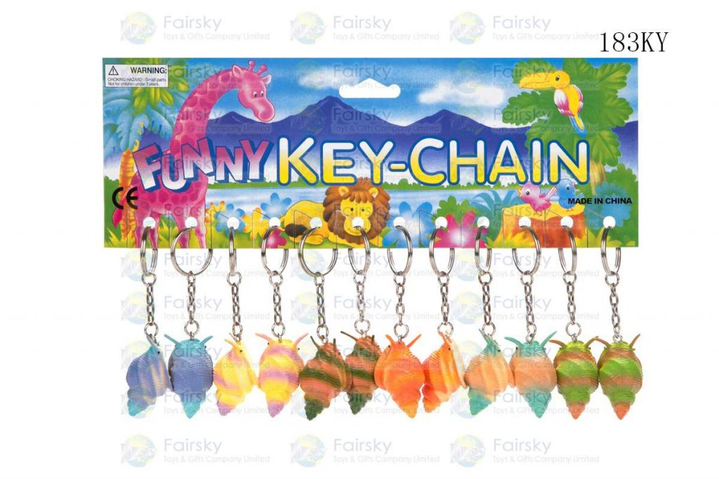 """1.75"""" PVC CANAL W/KEYCHAIN, 1 STYLE, 6 COLORS"""
