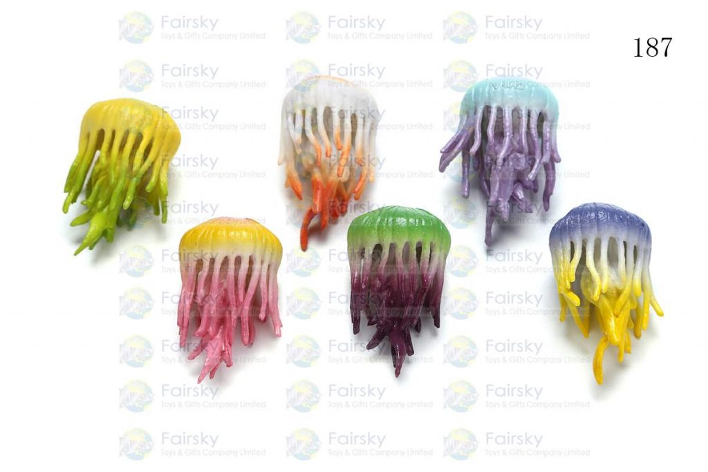 """1.5"""" PVC JELLYFISH 1 STYLE, 6 COLORS"""