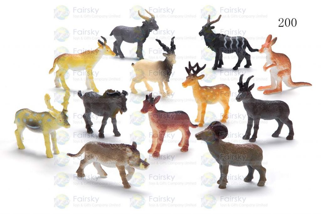 "2.5"" PVC WILD ANIMALS 12 STYLES"