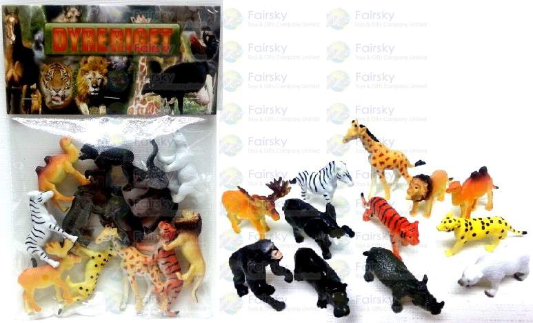 "2""-2.5"" PVC WILD ANIMALS 12 STYLES"