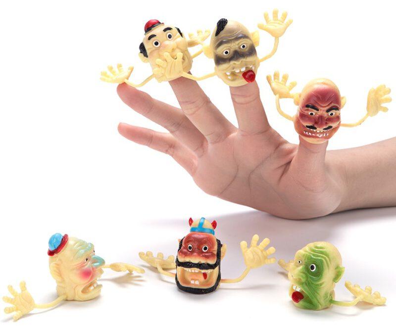 """1.5"""" PVC Funny Clown Finger Puppet 6 Asst"""