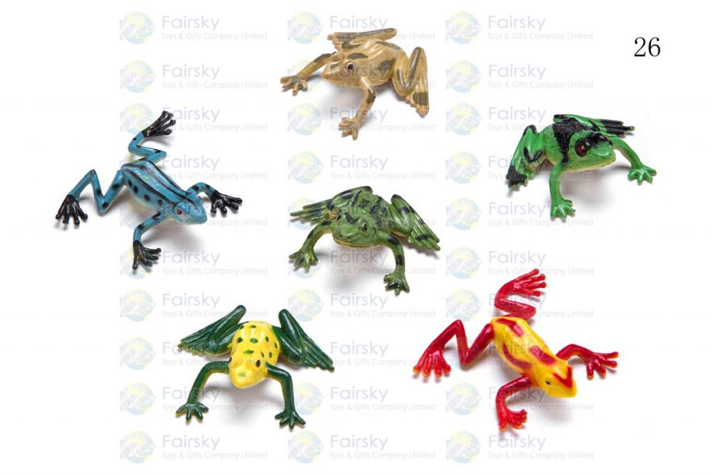 """1"""" PVC FROG 4 STYLES, 12 COLORS"""