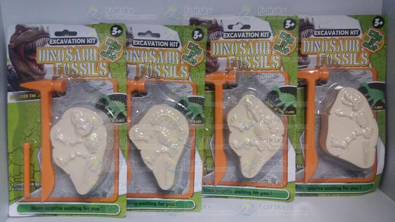 Dinosaur Fossil 4 Assorted