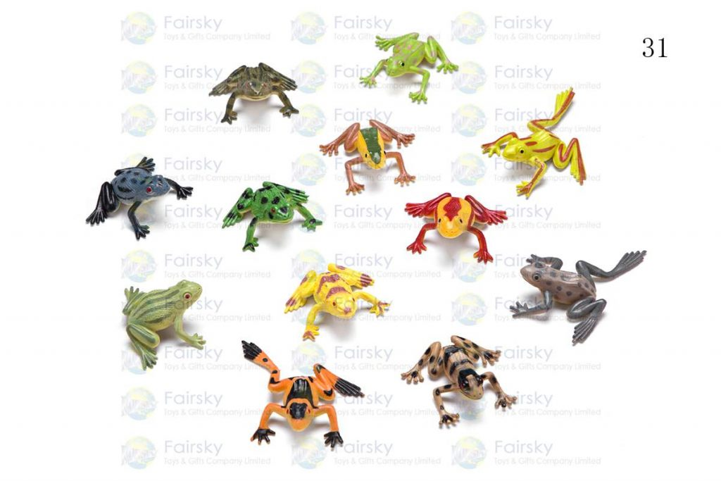"""1.5"""" PVC FROG 4 STYLES, 12 COLORS"""