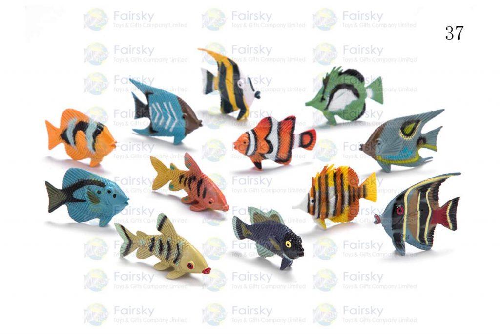 "1.5"" PVC TROPICAL FISH 6 STYLES, 12 COLORS"