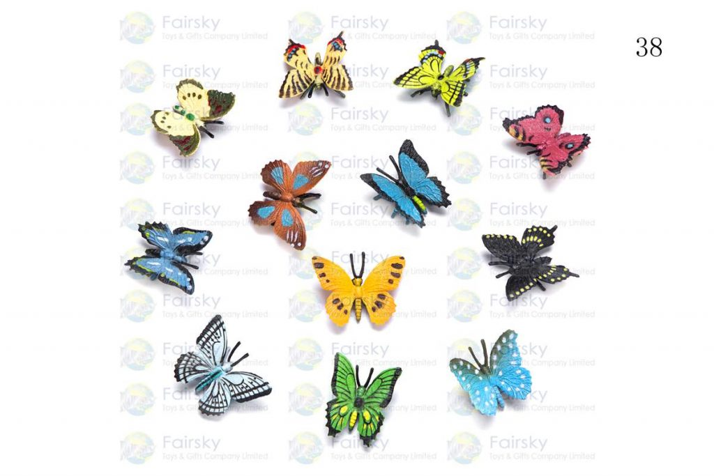 """1.5"""" PVC BUTTERFLY 4 STYLES, 12 COLORS"""
