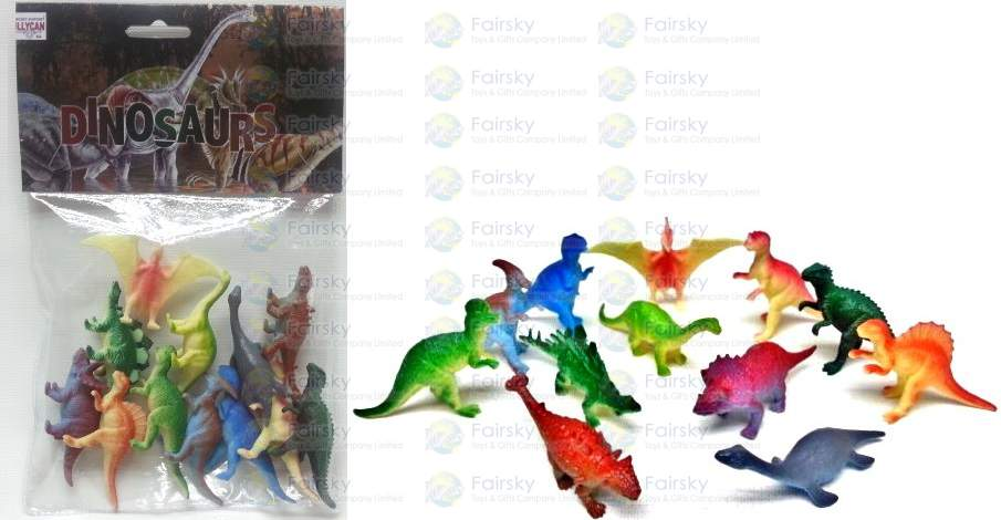12pcs Dinosaurs Set