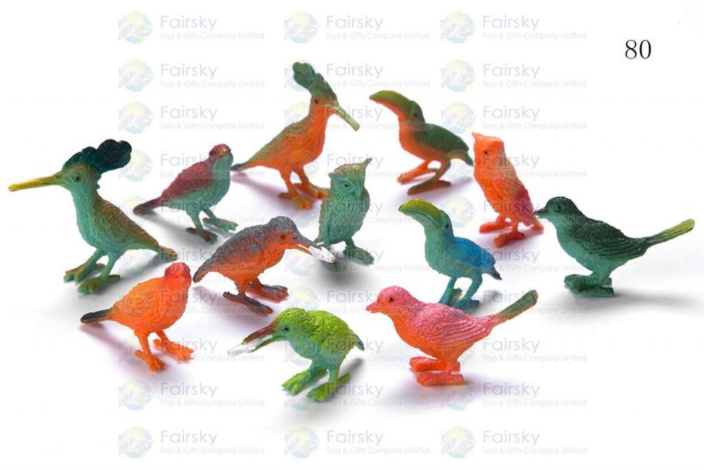 "1.5""-2"" PVC MINI BIRD 6 STYLES, 12 COLORS"