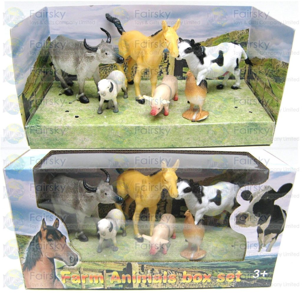 Set of 6pcs Farm Animals