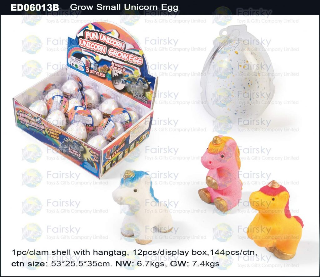 6cm Grow Small Unicorn Egg - Egg Shell with 2 Colors Spot