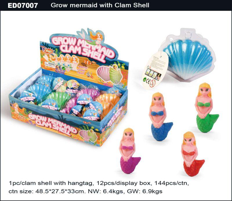 Grow Mermaid with Clam Shell