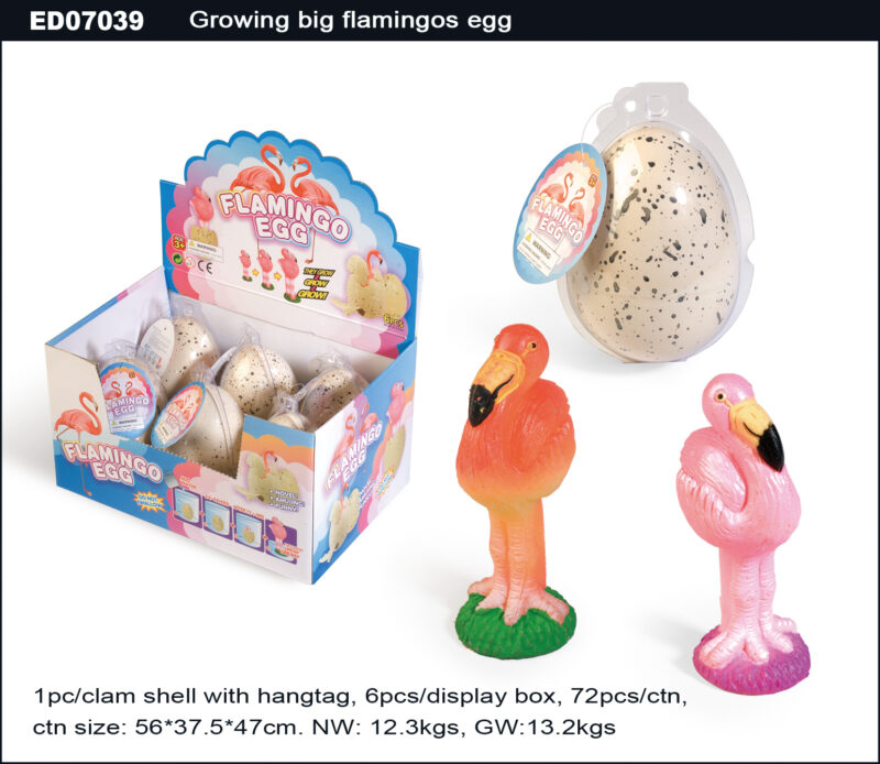 Grow Big Flamingo Egg - Egg Shell with Spot