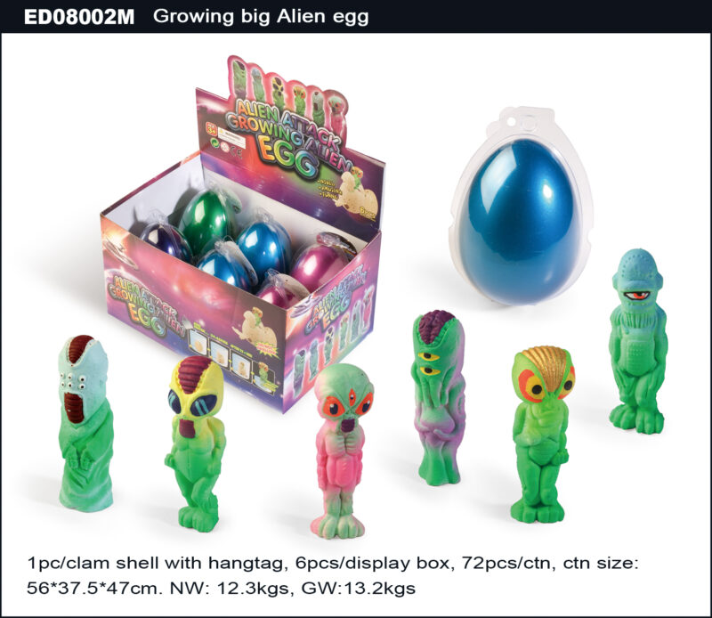 Grow Big Alien Egg - Metallic Single Color Egg Shell