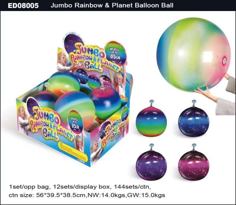 Jumbo Rainbow & Planet Balloon Ball