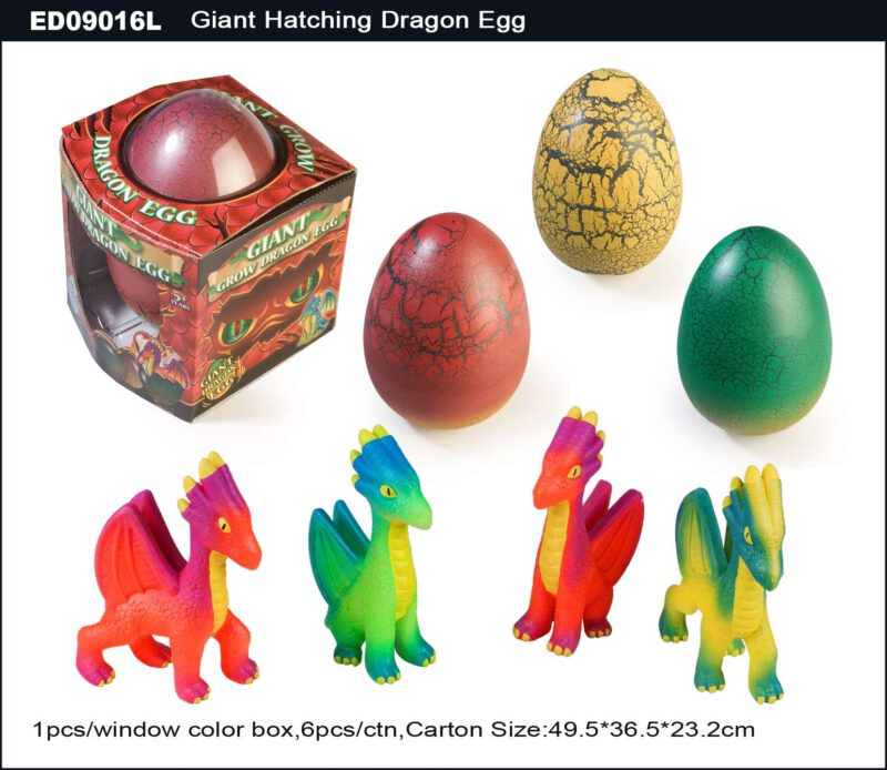 20cm Giant Hatching Dragon Egg (Neon Color) - Crack Egg Shell