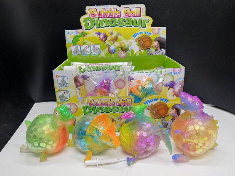 Dinosaur Balloon Ball with Glitter