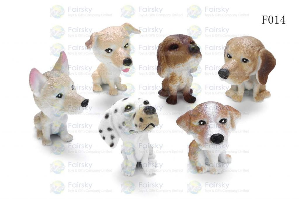 "1.5"" PVC FUNNY DOGS 6 STYLES"