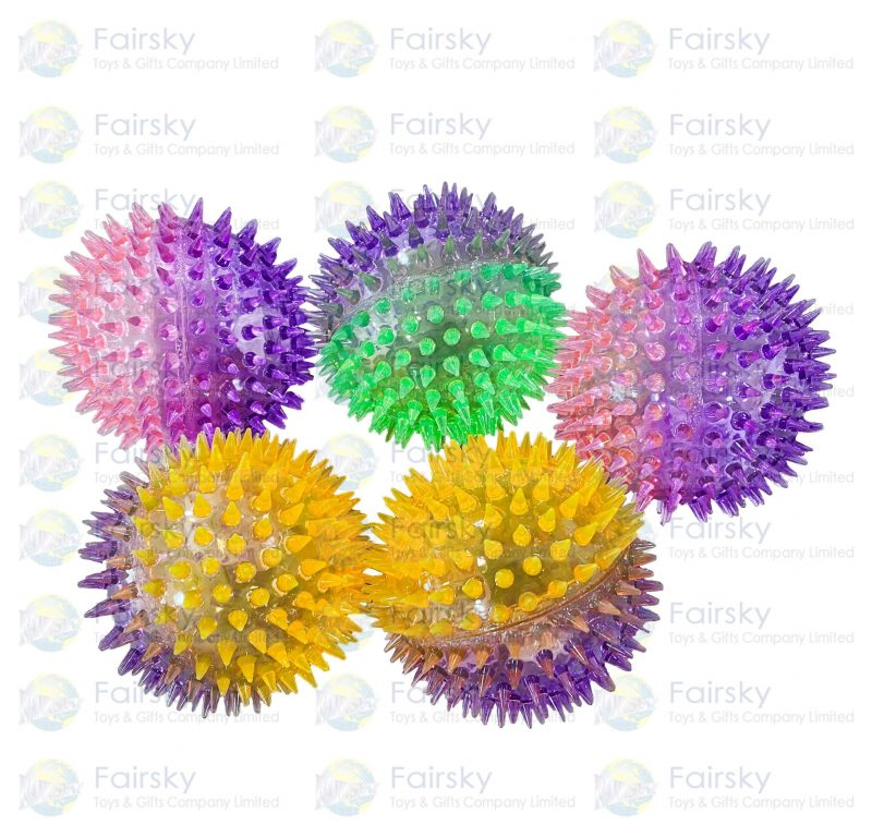 10cm Spikey Ball Twin Color with Light