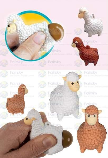 Squeeze Poo Alpaca Keychain