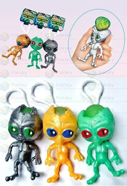 Squeeze Poo Alien Keychain