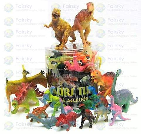 Set of 18pcs Dinosaurs Tub