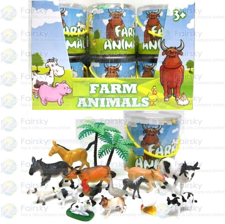 Set of 15pcs Farm animals with Tree