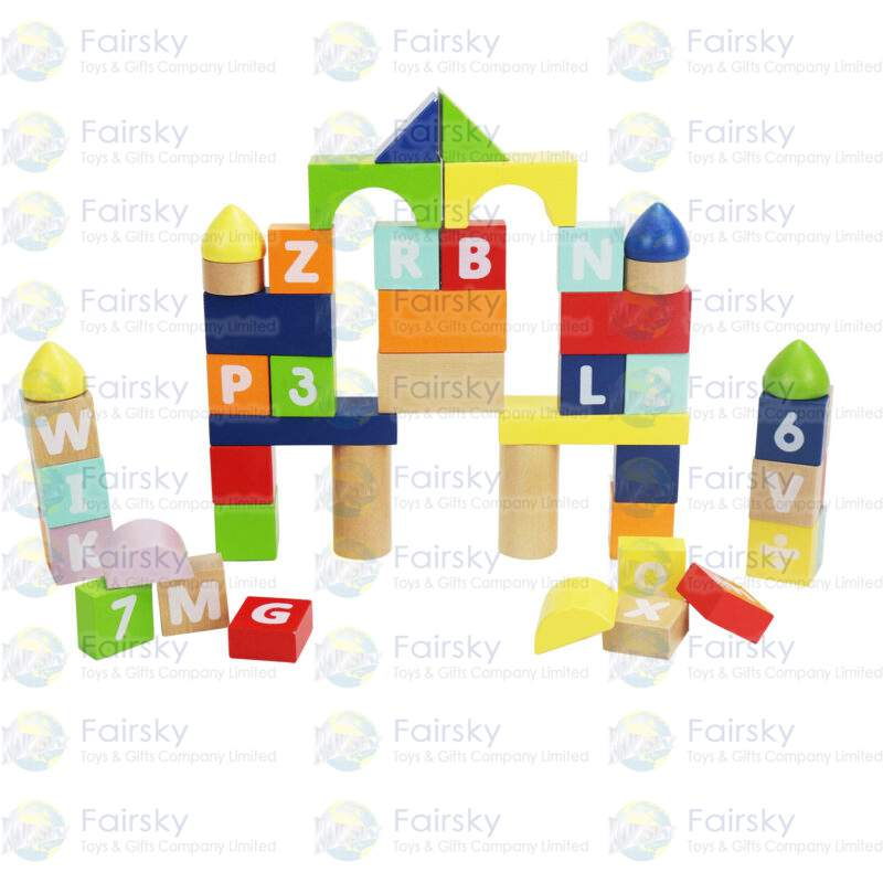50pcs Count and Spell Blocks
