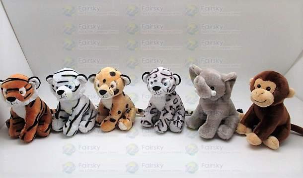 16cm Wild Animals 6 Assorted