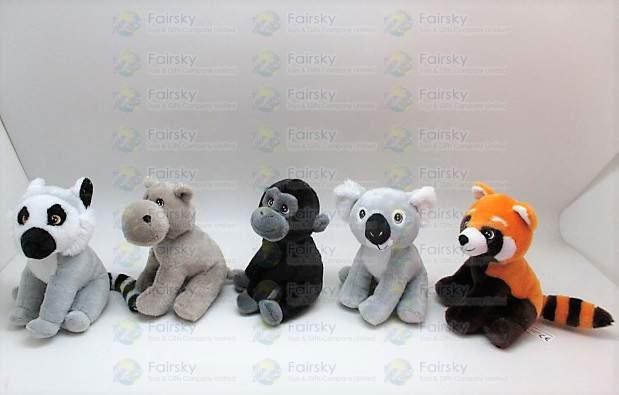 16cm Animals Plush Doll 6 Assorted