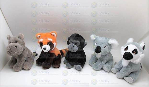 20cm Animals Plush Doll 6 Assorted
